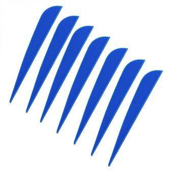 100 pieces /lot 4 inch Plastic blue Arrow Vane Fletching for DIY arrow archery bow