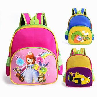 2-8 Years Old Kids' Cute Cartoon Kindergarten Shoulder Bags(Color:Yellow)