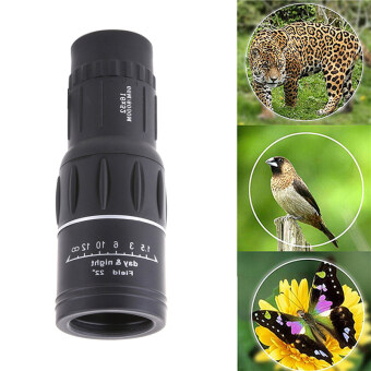 16x52 Monocular Dual Focus Zoom Optic Lens Travel Telescope(Black)