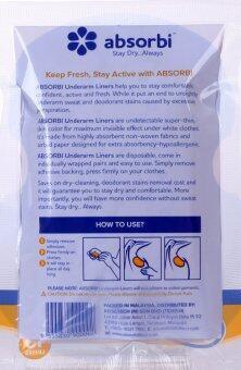 12 packs of 10pcs Absorbi Underarm Liners Disposable Sweat Pad (120pcs)
