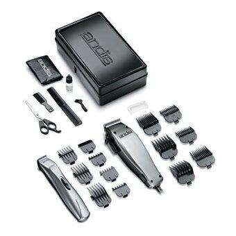 [International Shipping]Andis 23-Piece Clipper/Trimmer Combo Haircutting Kit, Silver (20140)()