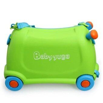 2 in 1 Baby Ride On Car and Luggage Bag - Green