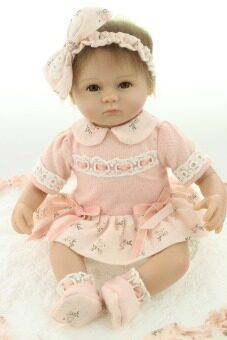 18 Inches Lifelike Reborn Baby Soft Silicone Vinyl Real Touch Doll Lovely Newborn Baby