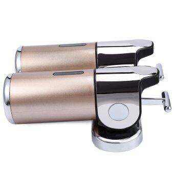 1000ML Stainless Steel Soap Dispenser Lotion Pump with T-bar Handle Wall Mounted Dual Shampoo Box (Gold )