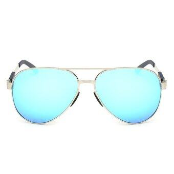2016 New Cool Men's Polarized Driving Brand Aviator Fashion Sunglasses (Blue)