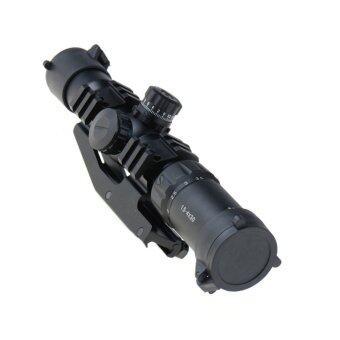 1.5-4X30 Tactical Rifle Scope w/ RGB illuminated Horseshoe Reticle w/ Mount-