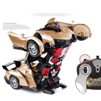 1:16 Big Size SUV Car Models Deformation Robot Transformation Remote Control RC Car Toys for Children Kids Gift,Golden