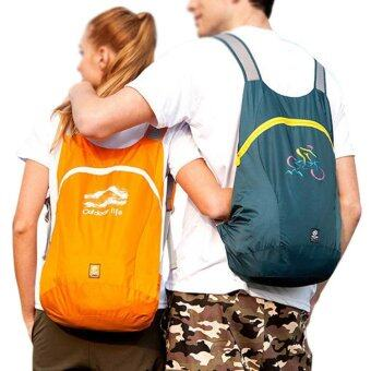 14L Ultra Light Waterproof Folding Hiking Camping Travel Backpack Daypack Bags Rucksack(Blackish Green)