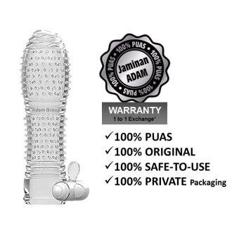 Adam Condom Vibrate Crystal Rocket Sex Toy for Men Delay Orgasm Vibration- Kondom Sarung Zakar bergetar