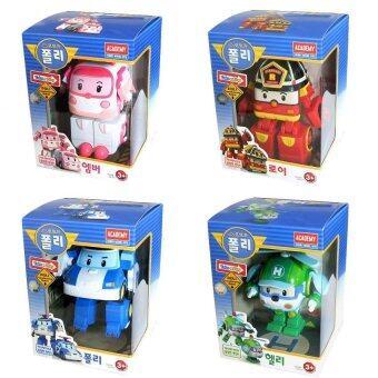 Action Figures Transformer Robocar Poli Ambe Roy Helly Robot Transformers Toys Gift Set 4Pcs.