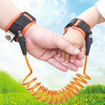 2PCS DNW Child Anti-lost Band Baby Safety Harness Anti-lost Strap Wrist leash Walking Hand Belt