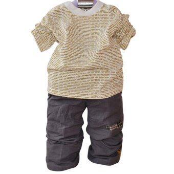 2016 Hot Sale Children Clothing Sets Cotton Coat+T-shirt+Pants 3pcs Baby Boy Kids Children Outerwear (Beige)