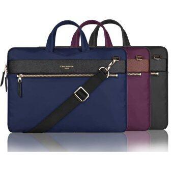 11 12 13.3 inch Laptop Sleeve Bag Handbag Shoulder Bag Notebook Protector for Macbook Air 13 Navy Blue