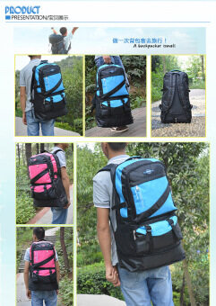 2016 New Arrival High-capacity 60L Mountaineering Backpack Fashion Waterproof Sport&Outdoor Traveling Bags Hiking Backpack Black ACB-02BK