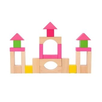 100-pcs Wooden Brick Set (Pink)