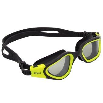 2016 New Panoramic Silicone Swimming Goggles with smoke lens (CF-7200) yellow