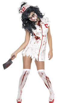 2016 new bloody Mary nurse demon Costume Halloween Party Dress Costume nurse -L