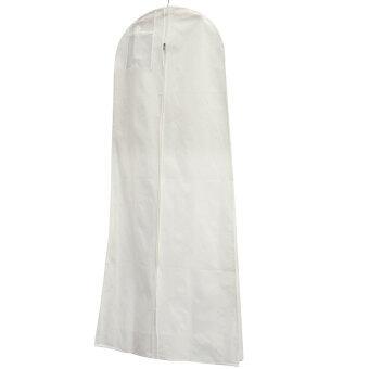 1.6M Showerproof Garment Dress Cover Long Bridal Wedding Dresses Storage Bag White