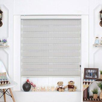 [Blind Korea] Combi Blinds / Zebra Blinds / 100% Made in Korea / W122cm x H190cm / Blinds / Window Blinds / Korea Blinds / Grey