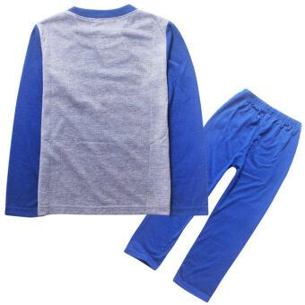 2 Pieces Boys 3-8 Years Old New Pyjamas Home Clothes Pyjamas Set(Color:Blue)
