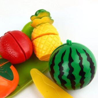 1 Set Kids Pretend Game Roles Play Cooking Fruit Vegetable Toys Cutting Kitchen Multicolor