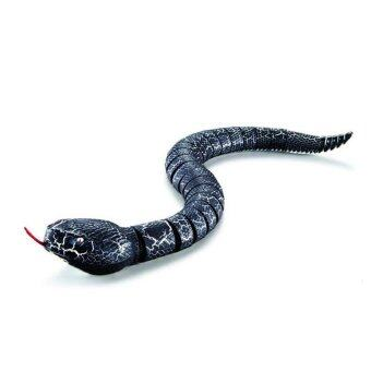 Black Horse Those trick toys Halloween trick toys simulation remote infrared ray remote control snake  Black snake