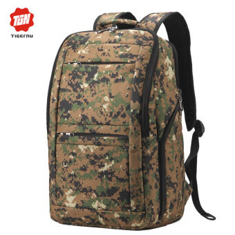 04e02191d5 Tigernu Waterproof Anti-theft Four-tooth zipper Shcool College Causal 17  Inches Laptop backpack for 12.1-17 Inches Laptop T-B3152(Army green)