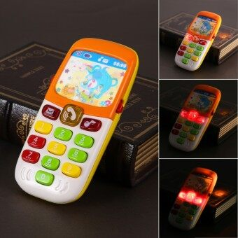 1Pcs Electronic Musical Toy Phone Mini Cute Kids Mobile Phone Cellphone Telephone Educational Toys