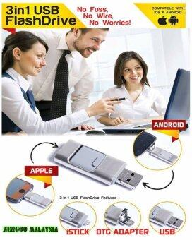 (ORI) FlashDrive 3-in-1 Micro-USB OTG interface for Android/iPhone/PCs 64GB (6 MONTHS WARRANTY BY FLASHDRIVE MALAYSIA)