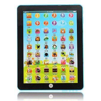 3PCS Kid Pad Learning English Educational Mini Tablet Toy Blue