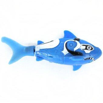 Cute Eco-friendly Plastic Battery Powered MIni Cartoon Electrical Shark Toy Water Swimmer Fish Toy Little Gift for Above 3Years