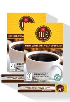 2 x Zrii Rise Premix Coffee with Amla Fruit Extract Total 40 sachets
