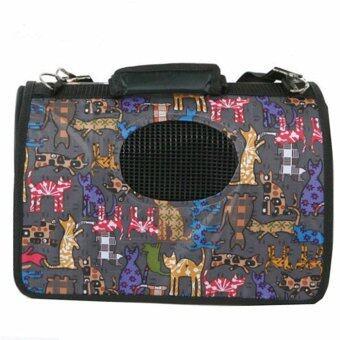 [Big Size] Oxford Pet Carrier Bag Carry - Black Cat