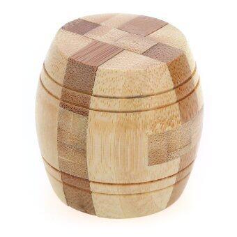 3D Barrel Eco-friendly Wooden Magic Cubes Interlocking Burr Puzzle IQ Brain Teaser Intelligent Educational Toy Multicolor