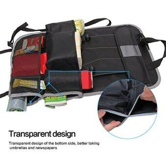 [International Shipping]Car Seat Back Organizer, Ideashop Auto Back Car Seat Organizer Holder Multi-Pocket Storage Bag Organizer Holder Travel Hanger Diaper Bag Baby Kids Car Seat Ipad Hanging Bag (Black with Gray)()