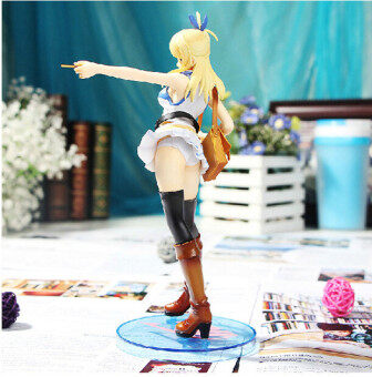 23cm Anime Fairy Tail Beautiful Lucy Heartphilia Pre-painted Action Figure Doll Sexy Model Toy