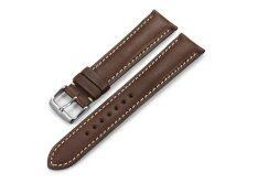 iStrap 19mm Genuine CalfSkin Leather Watch Band Strap Steel Spring Bar Buckle Replacement Clasp Super Soft Dark Brown 19 Malaysia