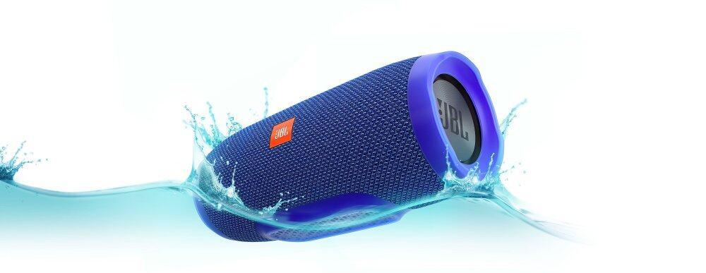 JBL Charge 3 Portable Bluetooth Speaker (Blue)