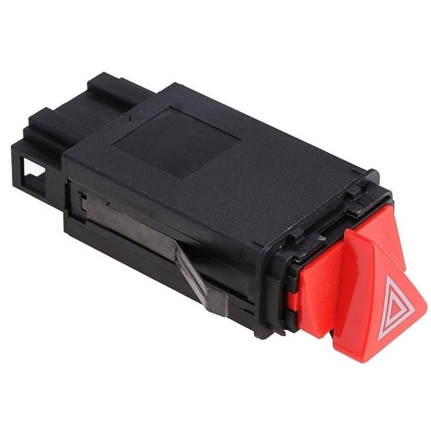 LCD Lampu Darurat Switch Kendaraan Mobil Sakelar Lampu Peringatan untuk Audi A6 C5 4B0941509D (Hitam + Merah)