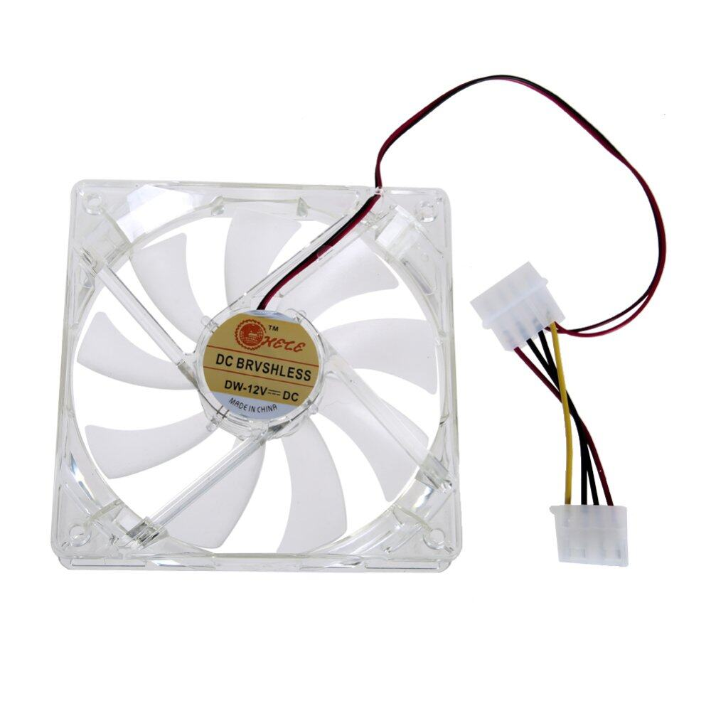 LED Light CPU Cooling Fan Computer PC Clear Case Quad 12CM Heatsink Red(Intl:)