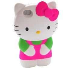 Leegoal Hot Pink/Green 3D Hello Kitty Detachable Hard Case Cover for iPhone 4/