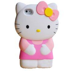 Leegoal Pink 3D Hello Kitty Detachable Hard Case Cover for iPhone 4/4S