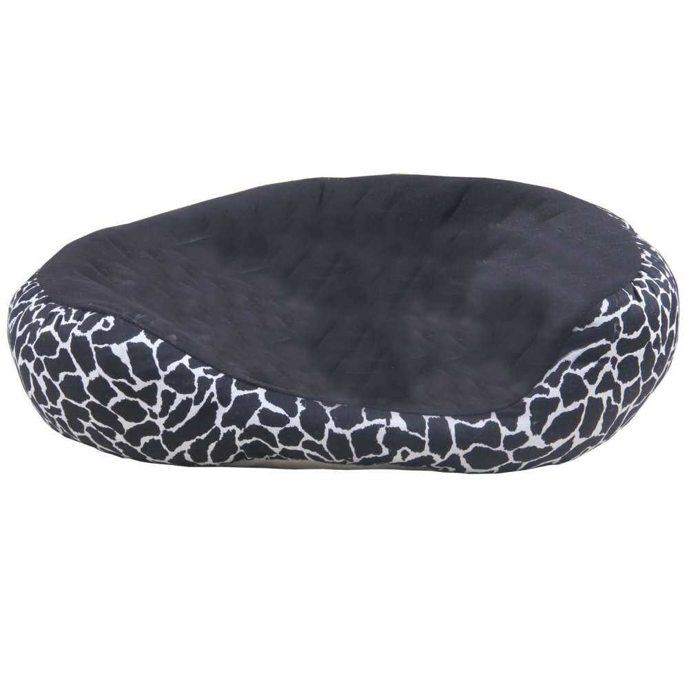Leopard Print Black Sofa Bed Luxury Pet Dog Beds Pet Product (L)