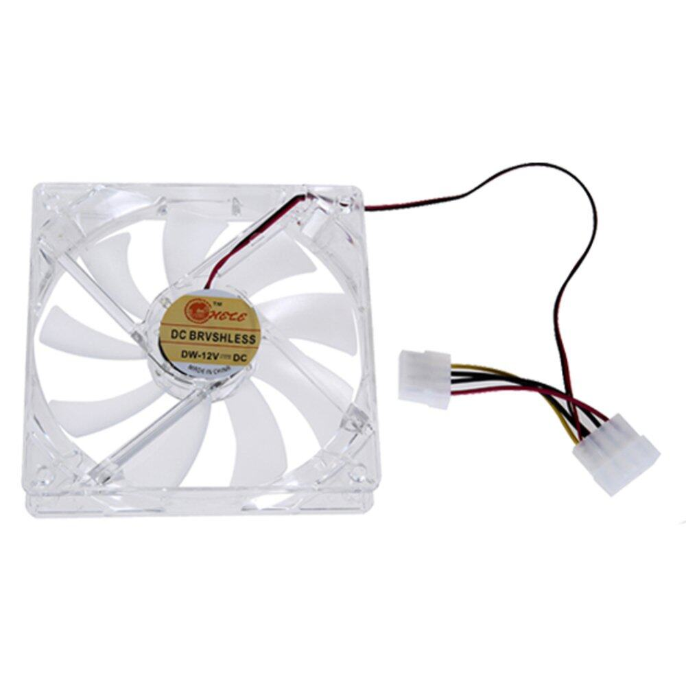 Light CPU Cooling Fan Computer PC Clear Case Quad 12CM Heatsink(Intl).