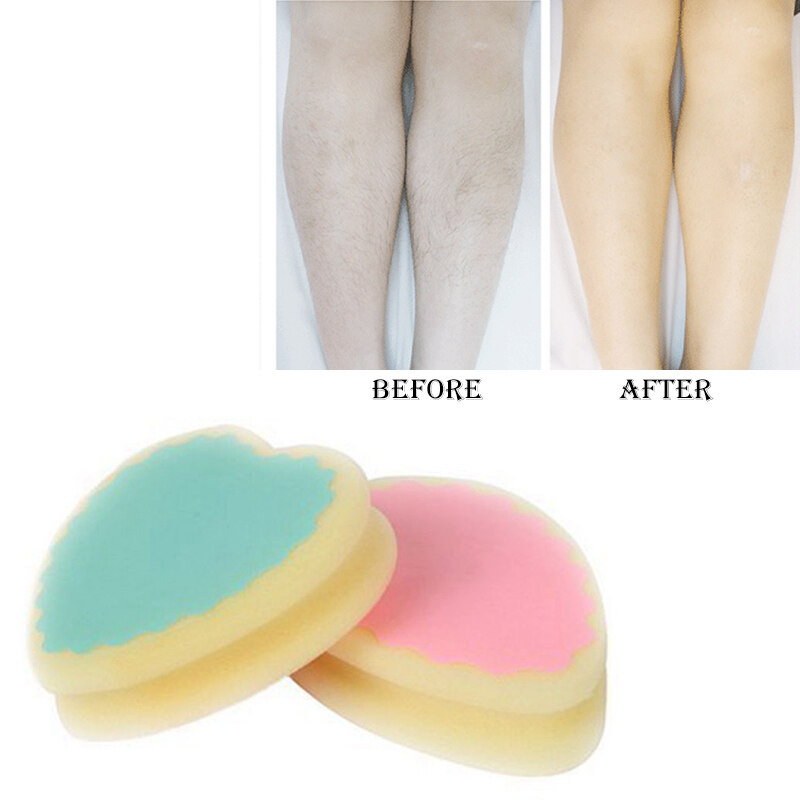 Magic Painless Hair Removal Depilation Sponge Pad save way to remove hair - intl