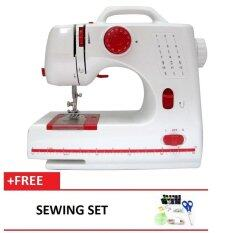 Maidronic Sewing Machine PRO 505 12 sewing options (Red) FREE SewingSet