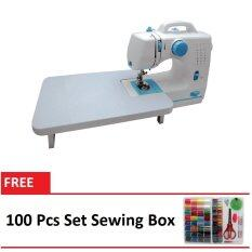 Maidronic Sewing Machine PRO 505 12 sewing options With Expansion Board (Light Blue) FREE 100 PCS SewingKit