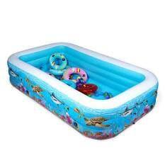 Buy Manyoubaby Family Deluxe Underwater World Swimming Pool 262cm Length X 160cm Width 66cm