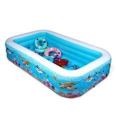 Manyoubaby Family Deluxe UnderWater World Swimming Pool-300CM(Length) x 175CM(Width) * 66CM(Height)+ Free 14 Pool Accessories
