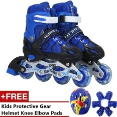 Mc Pro Adjustable Inline Skate Girls And Boys (blue) - S By Crc Mall.